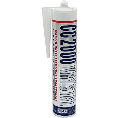 jardiboutique -Mastic Silicone CC2000 Transparent spécial Piscine. Krystal 290 ml-BP-95109