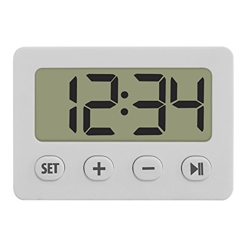 TFA Reloj Despertador Digital Blanco