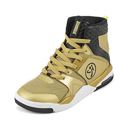 Zumba Air Classic Remix Sportliche High Top Tanzschuhe Damen Fitness Workout Sneakers, Gold 0, 37.5 EU