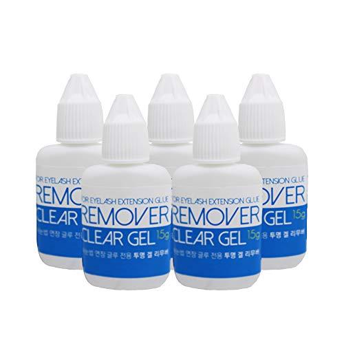 Transparent Gel Remover for Eyelash Extensions Gel 15ml, Fast Lash Adhesive Dissolution time - 60 Seconds 100 Bottles