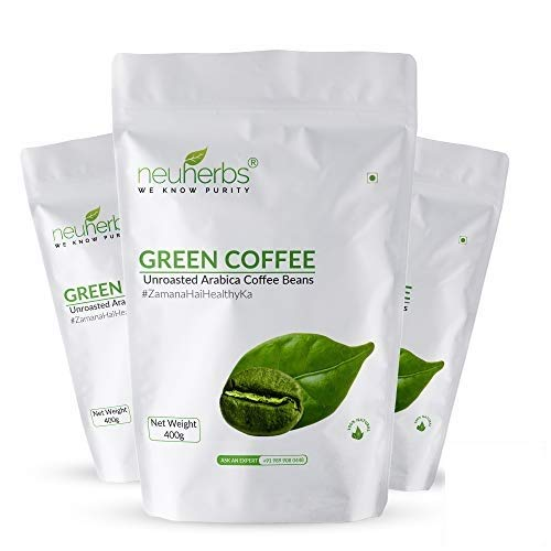 Neuherbs Green Coffee Beans Your Natural Immunity Booster And Weight Loss Partner: 400 G, Pack Of 3
