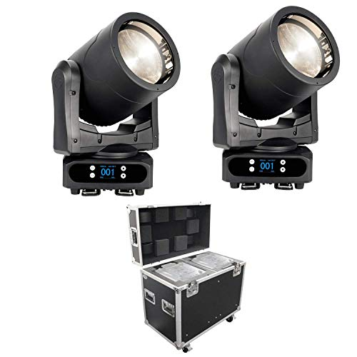 (2) American DJ Par Z Move RGBW – Moving Head LED Wash Light + Prox 250 Style Moving Head Lighting Case for 2 Units [XS-MH250X2W MK2]