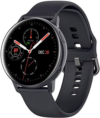 JIAJBG Inteligente Reloj Digital, Reloj Inteligente con la Presión Arterial, Monitor de Oxígeno en Sangre, Rastreador de Ejercicios con Monitor de Ritmo Cardíaco, Táctil Completa Re