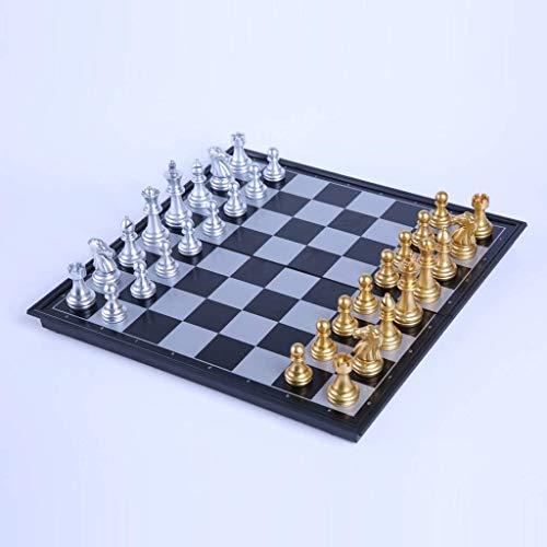 DJRH Juego de ajedrez magnético de Viaje: Juego de Mesa Plegable, portátil y Educativo para niños y Adultos ( Size : Large )