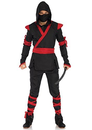 Leg Avenue Men's Costume, Black/Red, Medium/Large