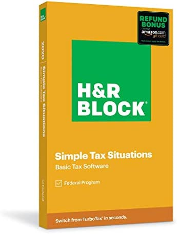 H R Block Tax Software Basic 2020 with 3 5 Refund Bonus Offer Amazon Exclusive Physical Code product image