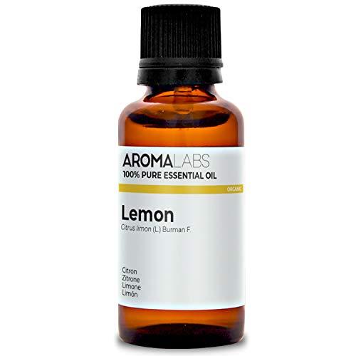 Limón BIO - 30ml - Aceite esencial 100% natural y BIO - calidad verificada por cromatografía - Aroma Labs