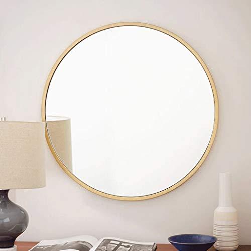 LJP spiegel rond badkamer 100 cm diameter moderne structuur metaal messing eenvoudige scheerbeurt make-up