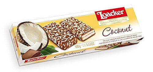 6x Loacker Coconut Creme Schoko Würfel riegel praline kekse Waffeln 100g