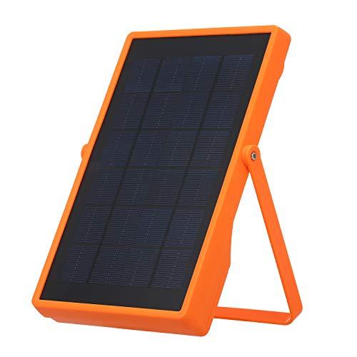 Tomshin Luz de emergência para acampamento Refletor LED solar Recarregável de 4 modos Carregador de celular para iluminação externa de acampamento Luz de acampamento com suporte