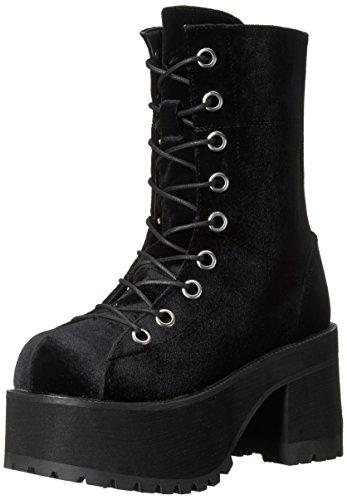 Demonia Damen RANGER-301 Stiefelette, Black Velvet, 43 EU