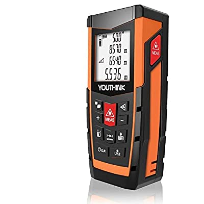 YOUTHINK Laser Measure 131Ft with Built-in Electronic Angular Sensor of Unique Auto Level/Vertical Measurement and Angle Measurement