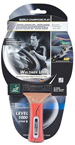 Donic-Schildkröt Tischtennisschläger Waldner 1000, ABP-Griff, 2,1 mm Schwamm, Easy Slick - ITTF Belag, 751801