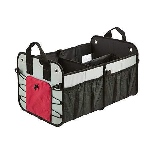 Amazon Basics - Organizador de maletero plegable para coches, todocaminos y camiones – Gris
