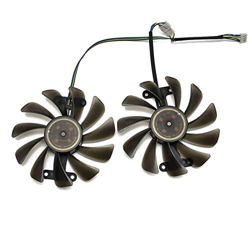 MiaoMiao 2 unids/Lote 95mm 4pin refrigerador Ventilador Reemplazar Ajuste para Zotac GeForce GTX 1070 1080 GTX1070 GTX1080 AMP EDICIÓN Tarjeta de gráficos Ventilador de refrigeración Service
