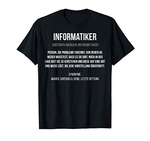 Informatiker Definition   Lustiges Programmierer Nerd cooles T-Shirt