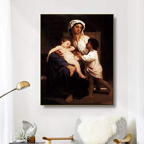 Rahmenlose Malerei Große Mutter Liebe Stillleben Leinwand Wohnzimmer Esszimmer Wandkünstler Wohnkultur ZGQ3186 40X60cm