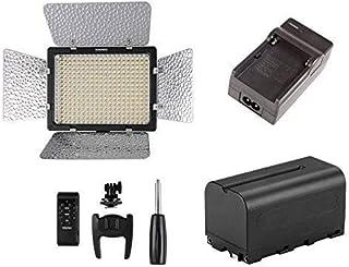Yongnuo YN300 III 3200K-5500K LED Video Light for Canon Nikon Pentax Olympus Samsung Panasonic JVC +Battery+Charger