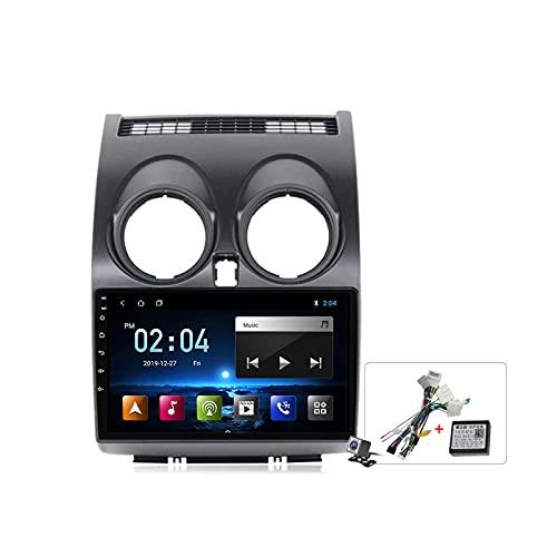 Android 10 9 Pollici Autoradio Multimediale per Nissan Qashqai J10 2006-2013 Supporto Navigatore GPS/FM AM RDS 5G DSP/Bluetooth Vivavoce/Carplay Android Auto/Controllo del Volante,Plug b,M100