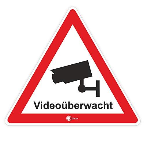 """4er Set Aufkleber """"Videoüberwacht"""""""