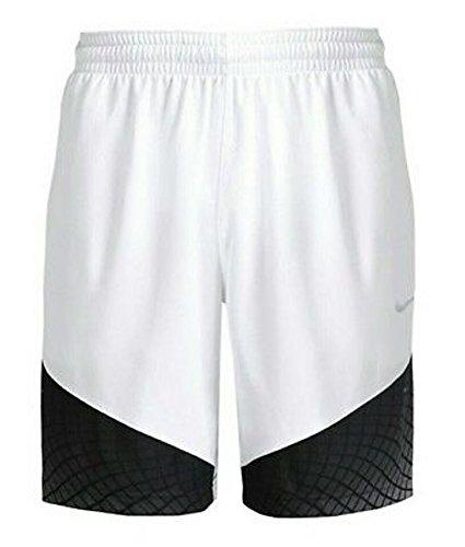 Nike Mens Elite Matrix Shorts Size XL White Black