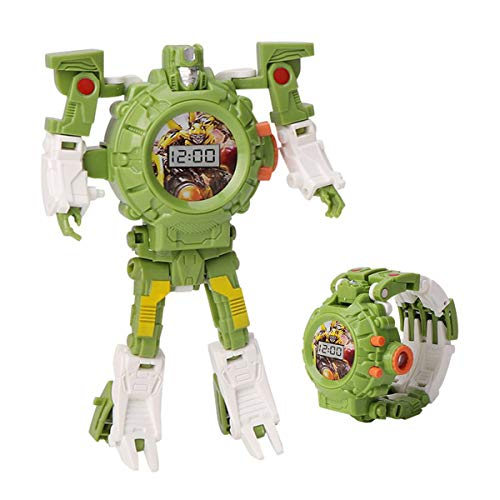 JINGYD Deformed Projection Robot Watch - 2 in 1 Electronic Transformers Toys Watch Deformed Robot - Boys and Girls