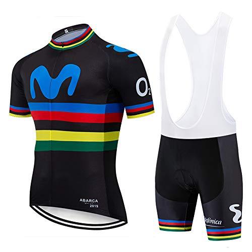 XGFHX Ropa de ciclismo para hombres chaqueta de manga corta pantalones cortos de ciclismo para trotar en bicicleta de montaña