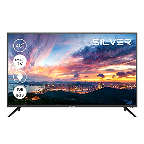 """TV LED SILVER 40"""" HD Ready Smart Android"""