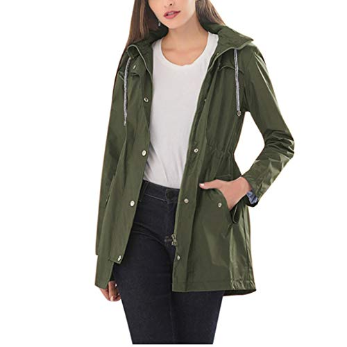 Damen Winterjacken Winter Mantel Winterjacken Frauen Frühling Herbst Windjacke Trenchcoats mit Kapuze PlüSchmantel übergangsjacke Kapuzenpullover Sweatjacke Outwear Trenchcoat Winterparka