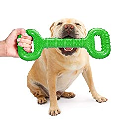 Feeko Dog Toys for Aggressive Chewers Large Breed 15 Inch Interactive Bone Toy Large Indestructible Dog Toys with Convex Design Natural Rubber Tug-of-war Toy for Medium and Large Dogs Tooth Cleaning