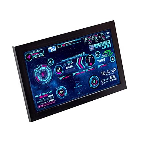 YYGE PC Temperaturanzeige 1024 x 600 AIDA64 CPU Sekundärer Bildschirm für Host Temperatursteuerung Dynamischer LCD für Computergehäuse