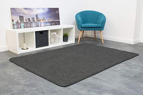 misento Shaggy Hochflor Teppich für Wohnzimmer Langflor, schadstoff geprüft 100 {bb232b3be7cc9d88ce31ee3c9504a6c4d88d542f6a2e1d9c103f689ebaceac5a} Polypropylen, grau-braun 133 x 190 cm