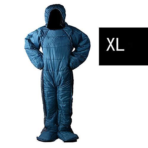YyZCL Saco de Dormir al Aire Libre Sleeping Bag Humana Puede Caminar for Mantener el Calor Adecuado for Acampar al Aire Libre Oficina de la Almuerzo (Color : Azul, tamaño : XL)