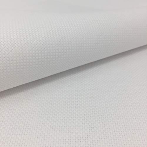 Tela para Punto de Cruz | 75cm x 50cm | 5,5 puntos/cm – 14 cuentas | 100% algodón | Elige color | de Delicatela (Blanco)