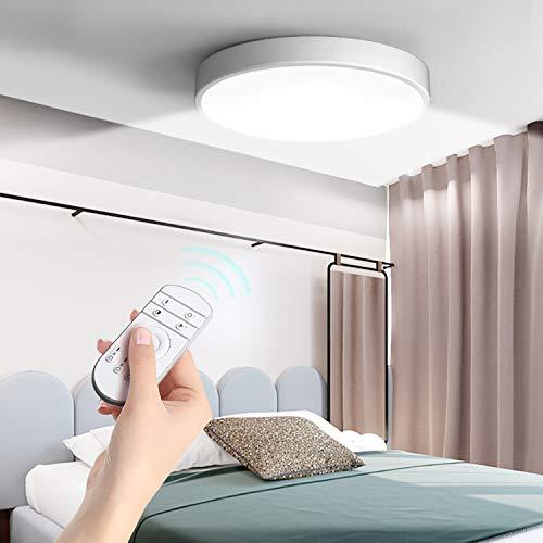 36W Plafoniera LED Dimmerabile, Rotonda Ultrasottile LED Lampada a Soffitto con Telecomando, Ø50cm*5cm, 3600LM Illuminazione da Interno per Cucina Soggiorno Camera da Letto Corridoio Ufficio Garage