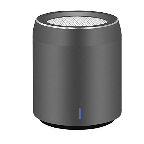 Altoparlante Bluetooth Usmain Speaker Portatile Smartphone con Subwoofer, Microphone, Wireless Boombox con uscita AUX, Speaker Mini Portatile per Interno ed Esterno-Grigio