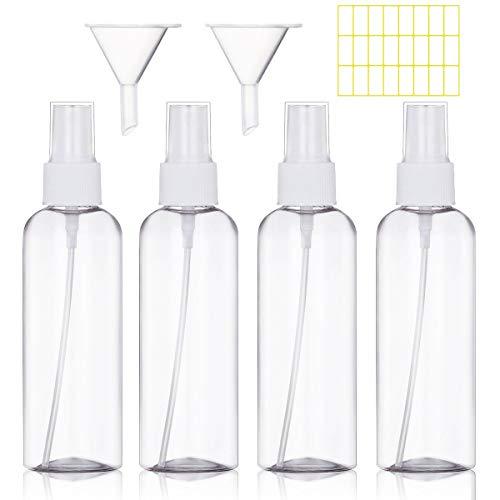 Spray Fles Lege Plastic Transparante Fijne Mist Reisverstuiver Spuitflessen Set 100ml,White Kleur: wit