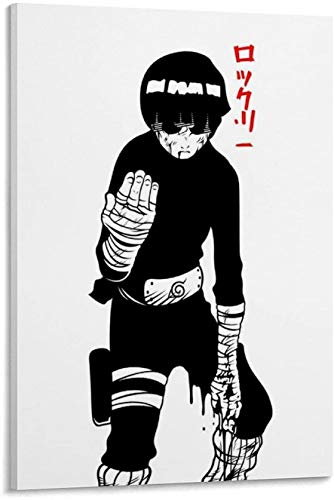 Minimalist Anime Rock Lee Poster Painting on Canvas Modern Art Decorative Wall Pictures For Living Room Home Decoration (Framed