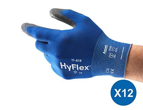 guanti da lavoro goodyear Ansell HyFlex 11-618 Guanti da Lavoro in Nylon