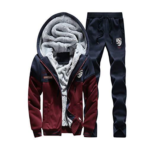 Nuevo Plus suéter de Terciopelo Sudadera de Hombre con Capucha Traje de Invierno, Chaqueta de Punto de Moda de Manga Larga