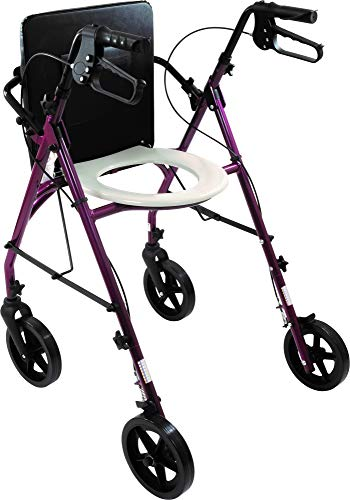 Go Anywhere(tm) Rollator with Integrated Raised Toilet SEAT. Worlds Most Versatile Rolling Walker. Ideal for Elderly, Seniors, Mobility Challenged Adults. Regain Your Independence.