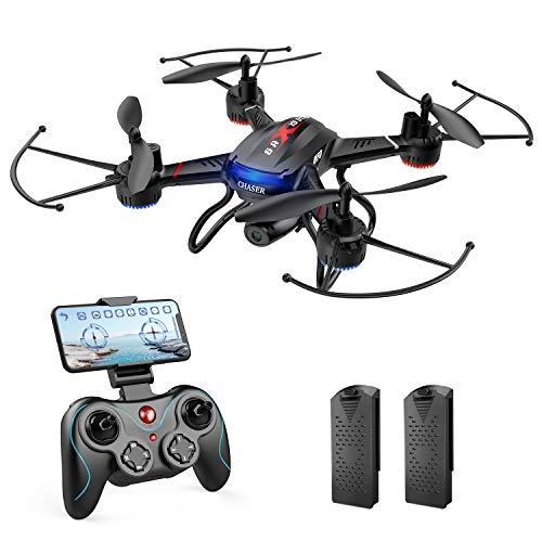 Holy Stone ドローン カメラ付き 室内 1080P 広角HD リアルタイム 200g未満 軌跡飛行モード 体感操作モード ジェスチャー撮影 モジュール化バッテリー2個 飛行時間20分 高度維持 ワンキーリターン ヘッドレスモード 2.4GHz モード1/2自由転換可 国内認証済み F181W