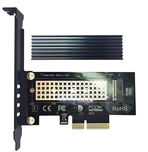 glotrends PA09-HS NVME Adapter PCIE M.2 Adapter für Key-M PCIE M.2 SSD