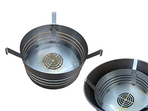 A. Weyck Tools Feuerkorb für Feuertonnen 210/260L Stahlfass Feuerplatte Feuerschale Grill BBQ inklusive Gratis Schürze