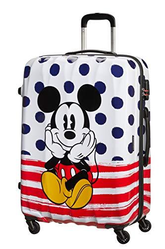 American Tourister Disney Legends, Spinner L, Equipaje infantil, 75 cm, 88 L, Multicolor (Mickey Dots)