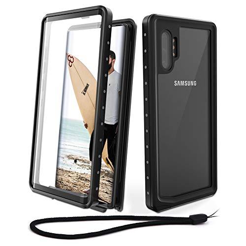 Beeasy Coque Samsung Note 10+ Plus 5G,Etanche 360 ° Protection Antichoc Robuste Outdoor Antipoussière Anti-Choc Housse Étui Rigide Résistant Aux Chocs pour Galaxy Note 10+, Noir