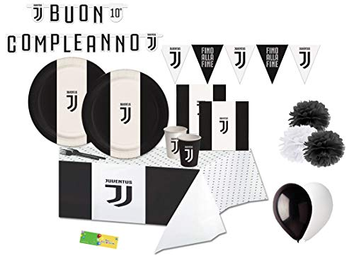 BIGIEMME Kit n 54 F.C. Juventus Coordinato Tavola Compleanno Tifoso Juve Party Festa