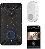Wireless Video Doorbell Camera, Clear Picture and Video, IP55 Waterproof, Lifetime Free Cloud