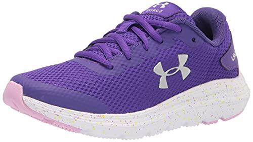 Under Armour Women's Grade School Surge 2 Fade Running Shoe, Purple Zest (500)/White, 7