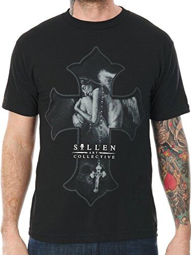 Sullen Art Collective Men's Angel Dream Short Sleeve Tee, Black, Medium